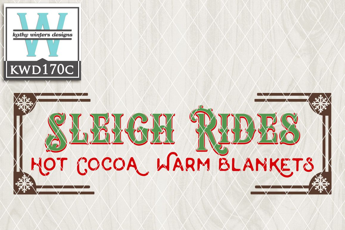 Christmas SVG - Sleigh Rides KWD170C example image 1