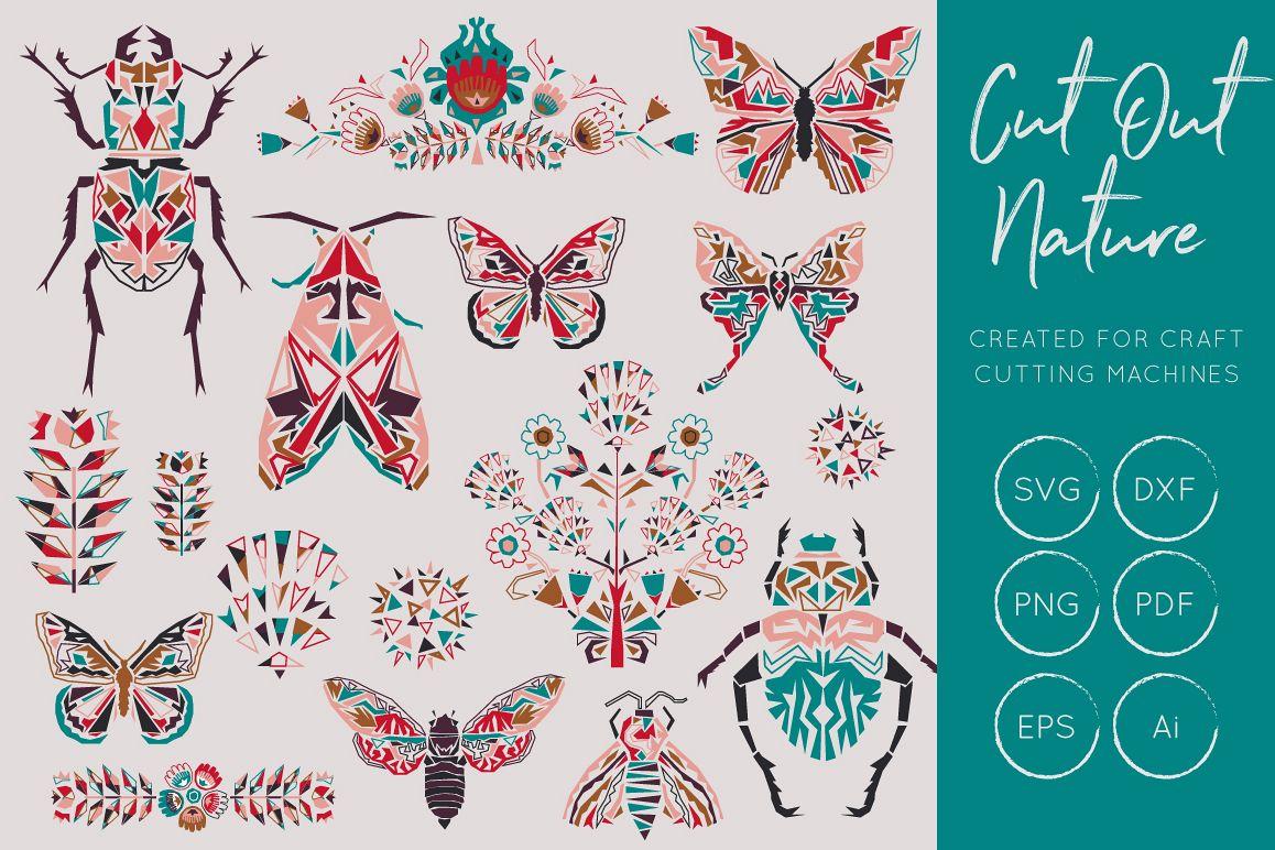 Butterflies and Beetles SVG Bundle example image 1