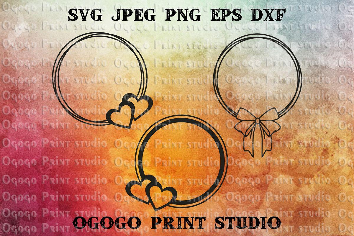 Monogram frame Svg file, Valentine's Day svg file example image 1
