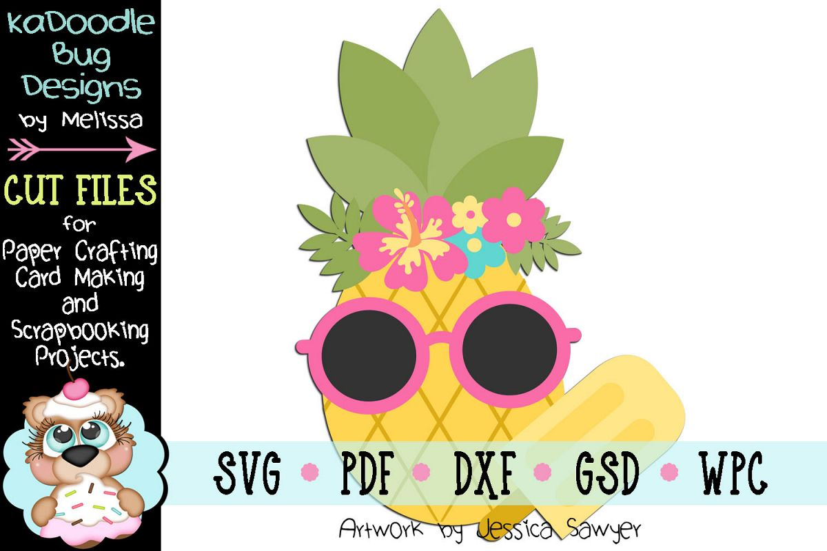 Chilled Pineapple Cut File - SVG PDF DXF GSD WPC example image 1
