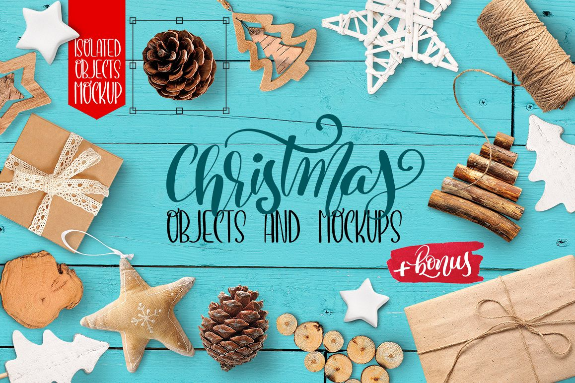 Christmas isolated objects and mock ups example image 1