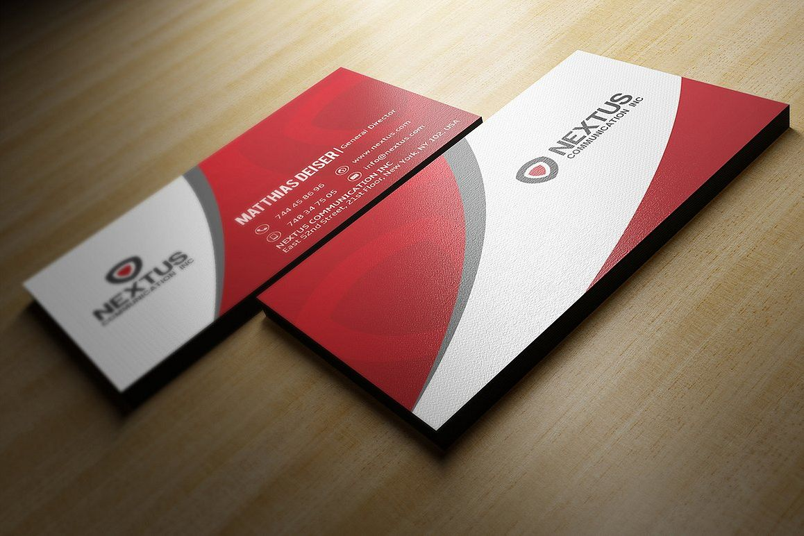 Red business card red business card example image 1 colourmoves