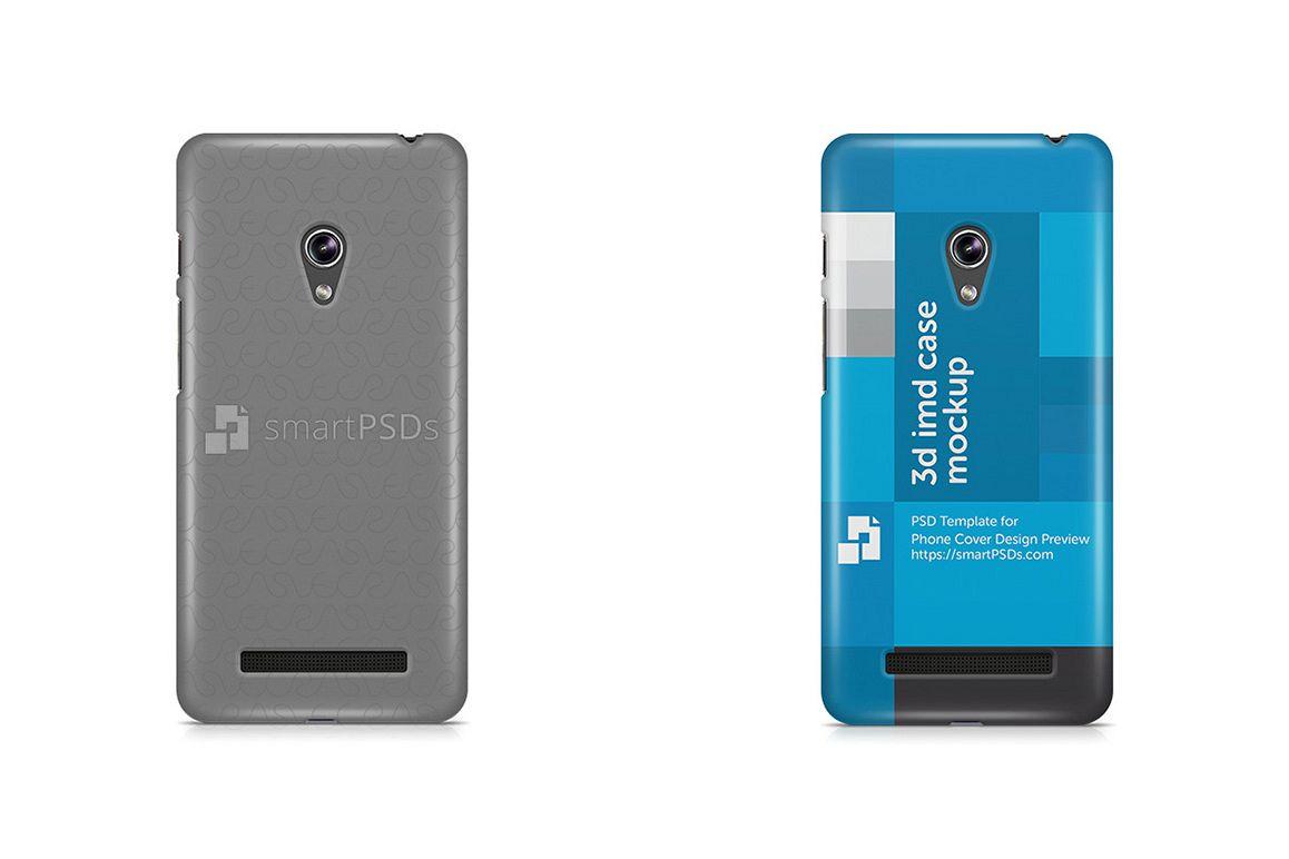 Asus Zenfone 5 3d IMD Mobile Case Design Mockup 2014 example image 1