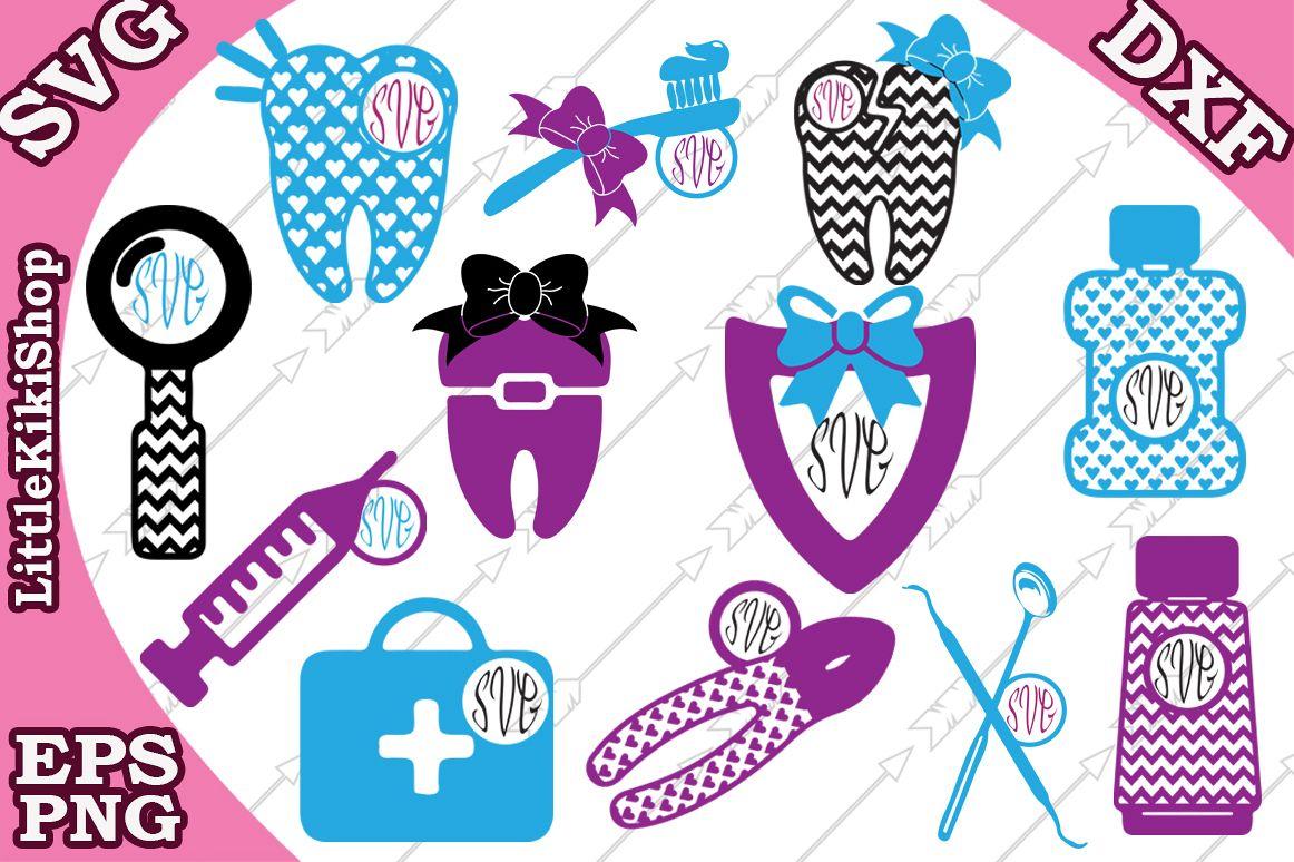 Dentist Svg, Dentist Monogram ,Tooth Svg,Dentist tools Svg example image 1