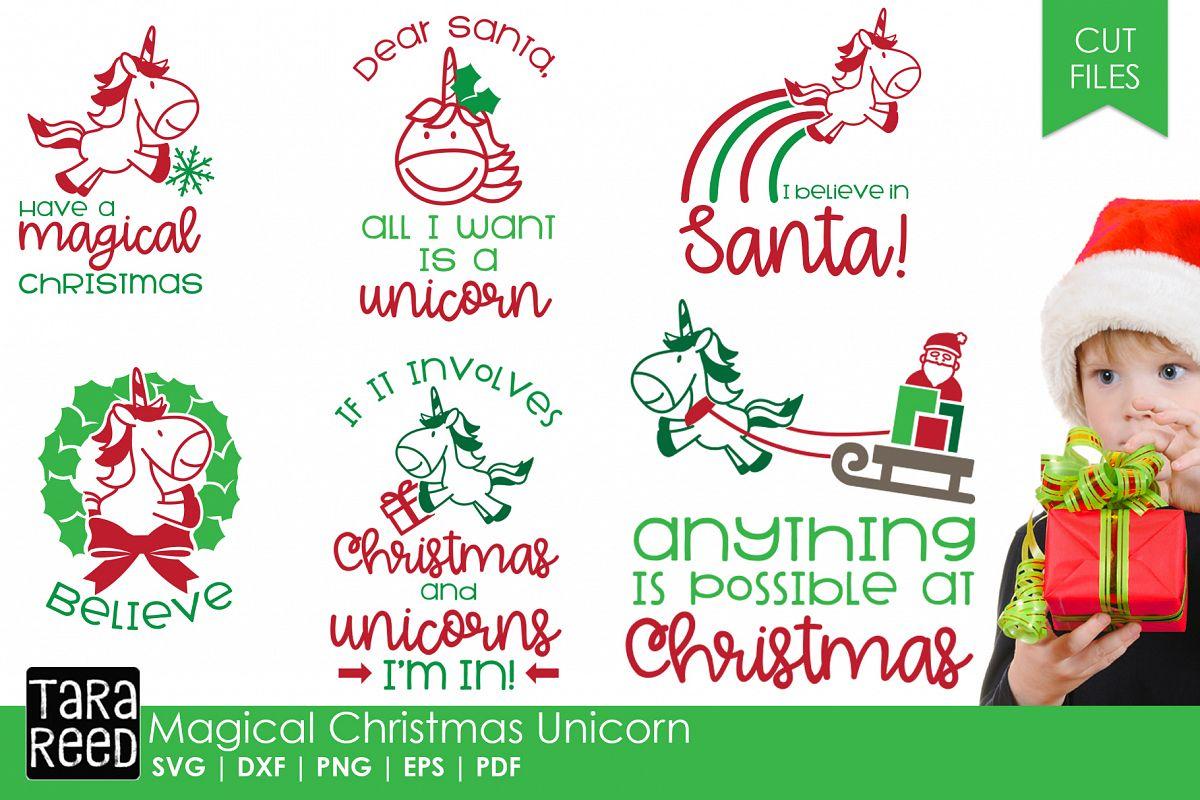 Christmas Unicorn.Magical Christmas Unicorn Christmas Svg Files For Crafters
