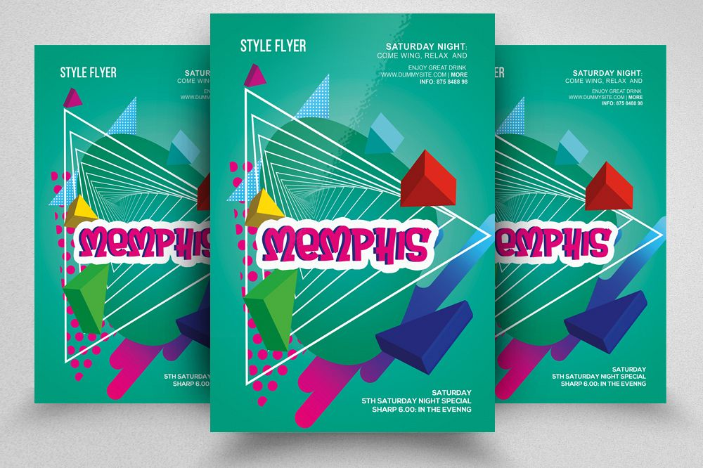 Abstract Memphis Flyer example image 1