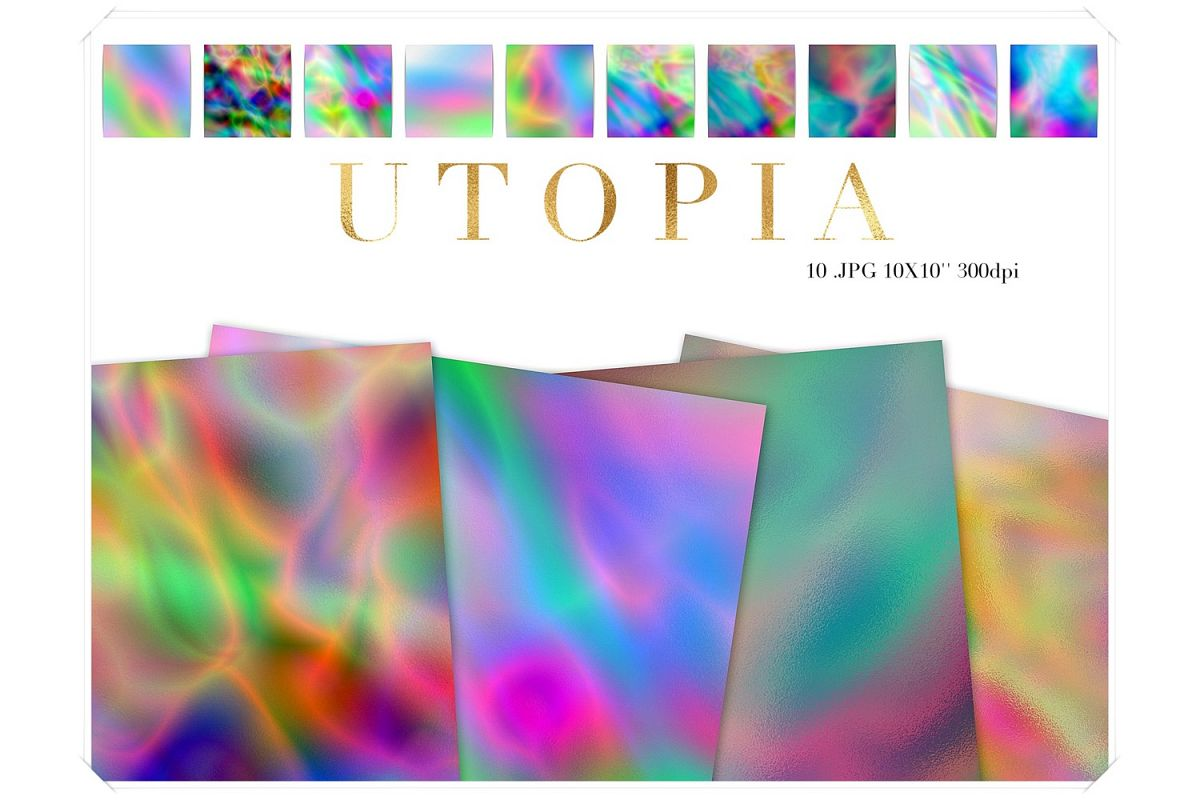Colorful Holography Papers example image 1