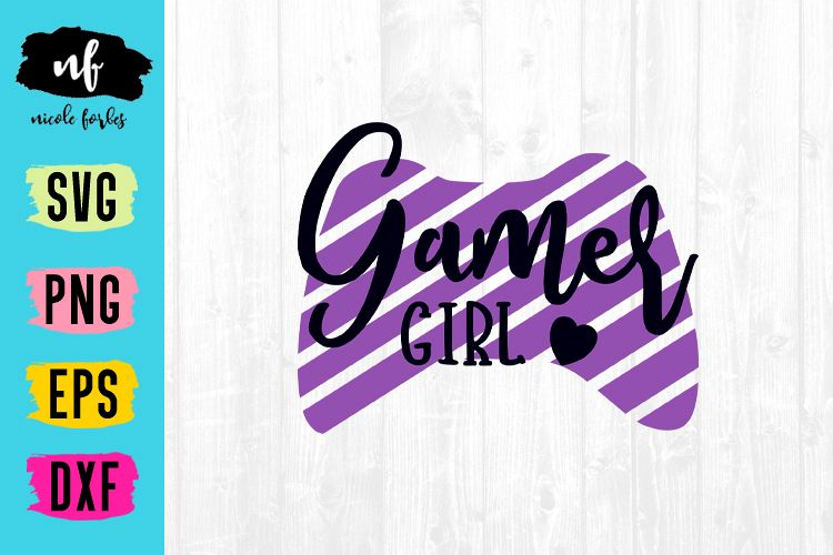 Gamer Girl SVG Cut File example image 1