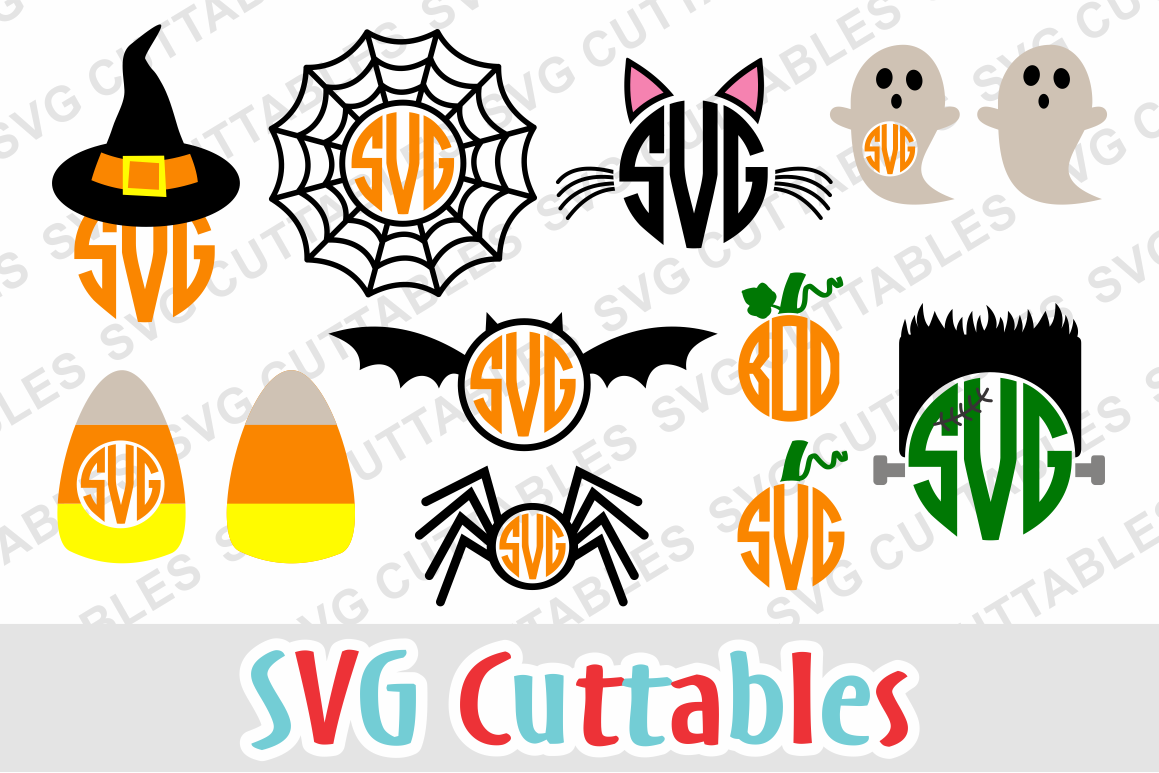 halloween monogram frames