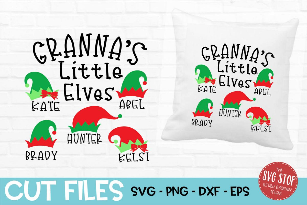 Granna Little Elves Christmas SVG, PNG, DXF, EPS example image 1