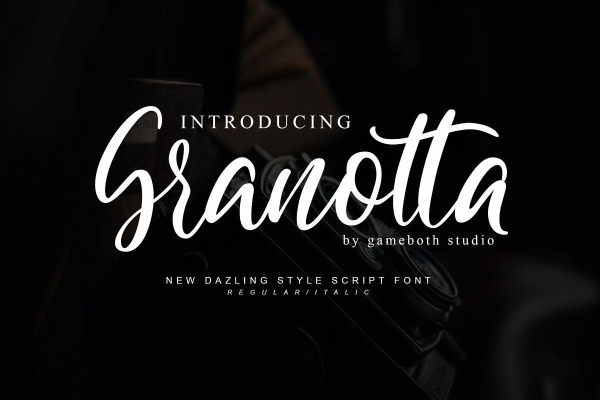 Granotta Dazling Script Font example image 1