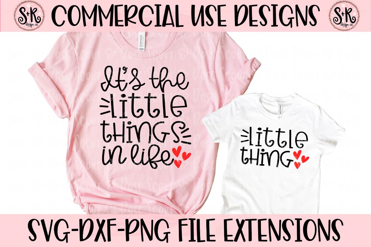 Little Things Mommy and Me SVG DXF PNG example image 1