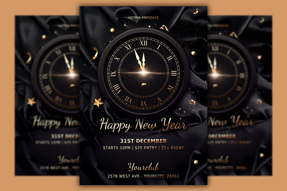 Classy New Year Flyer Template example image 1