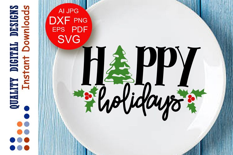 happy holiday signs merry christmas decor svg happy new year example image 1