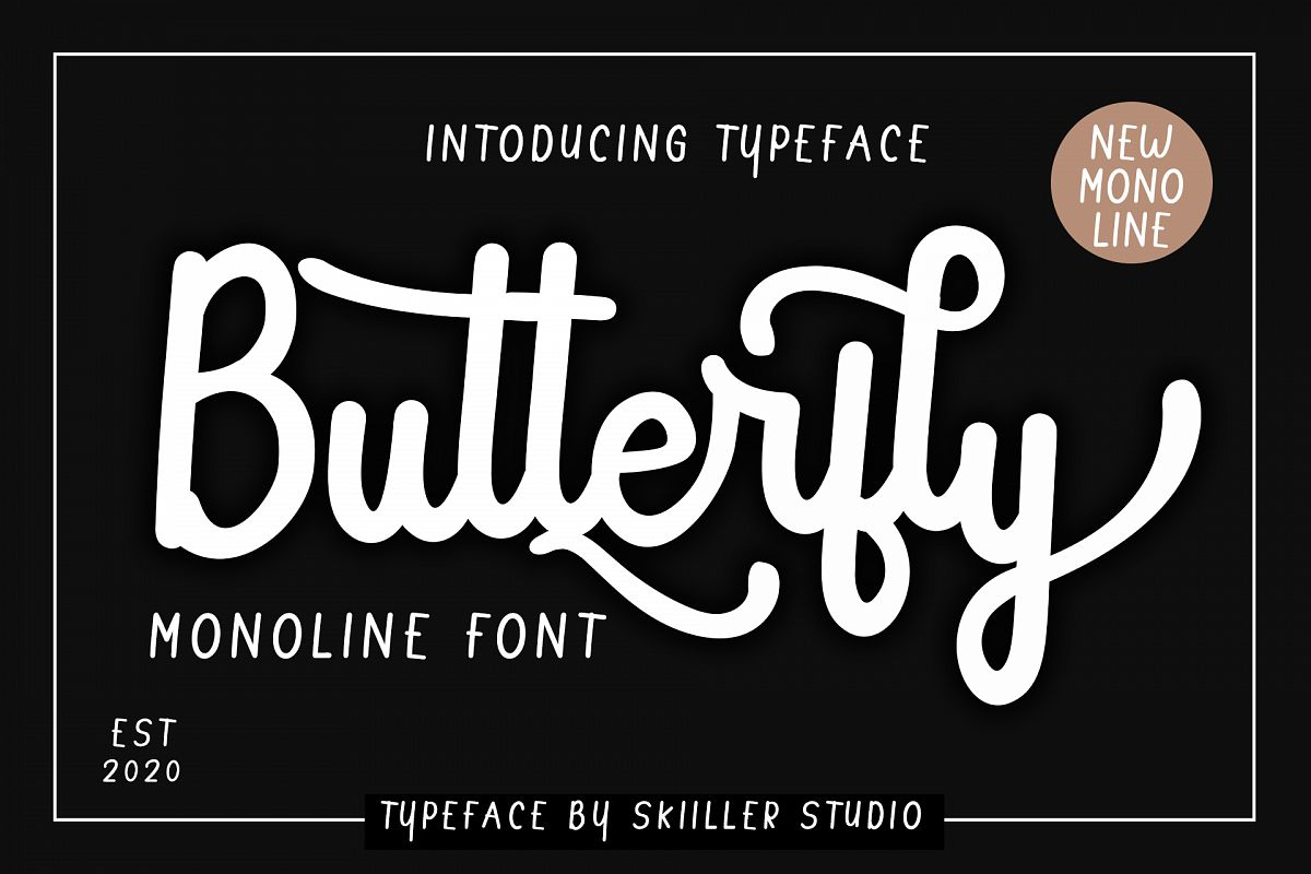 Butterfly Monoline font example image 1