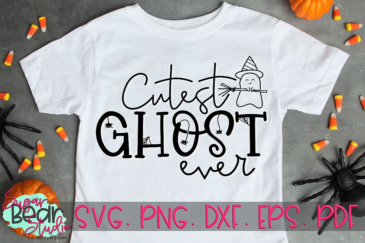 Cutest Ghost Ever - A Halloween SVG example image 1