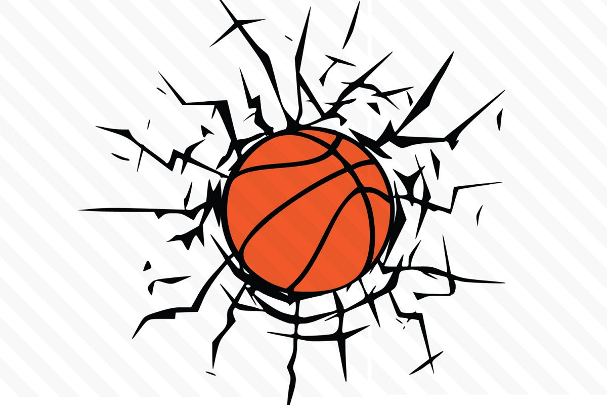 Basketball cool. Svg clipart vector