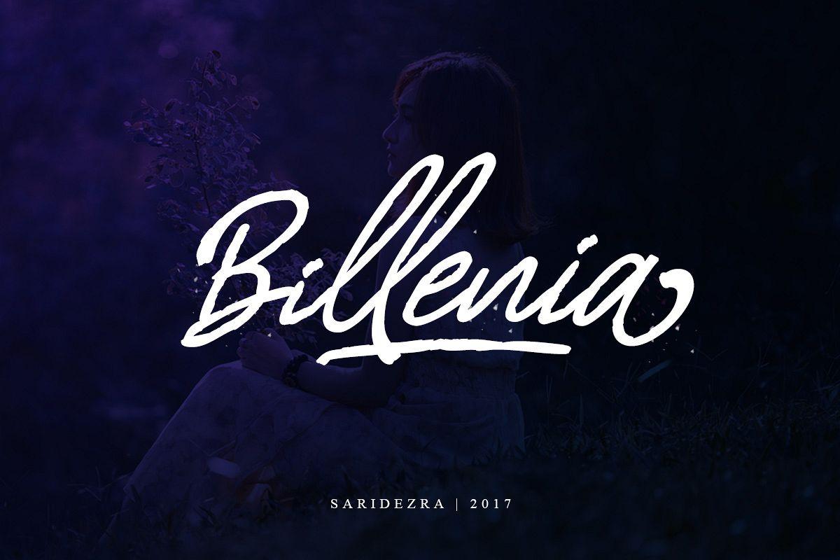 Billenia - Script Font example image 1