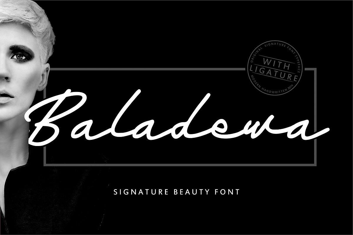 Baladewa   Signature Beauty Font example image 1