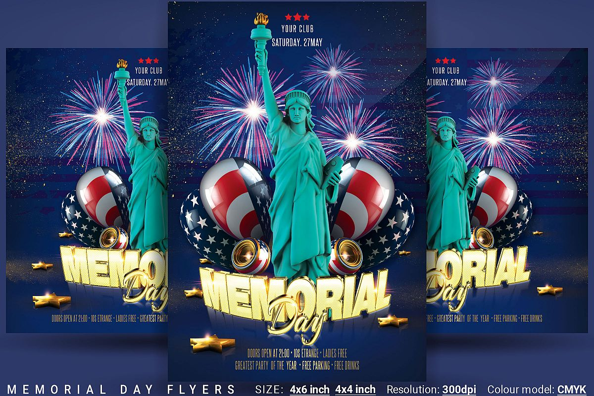 Memorial Day Flyers example image 1