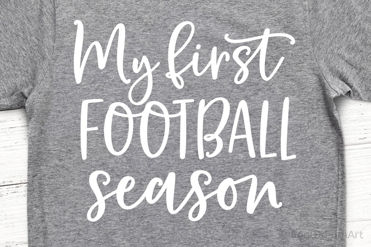 My First Football Season SVG, DXF, PNG, EPS example image 1
