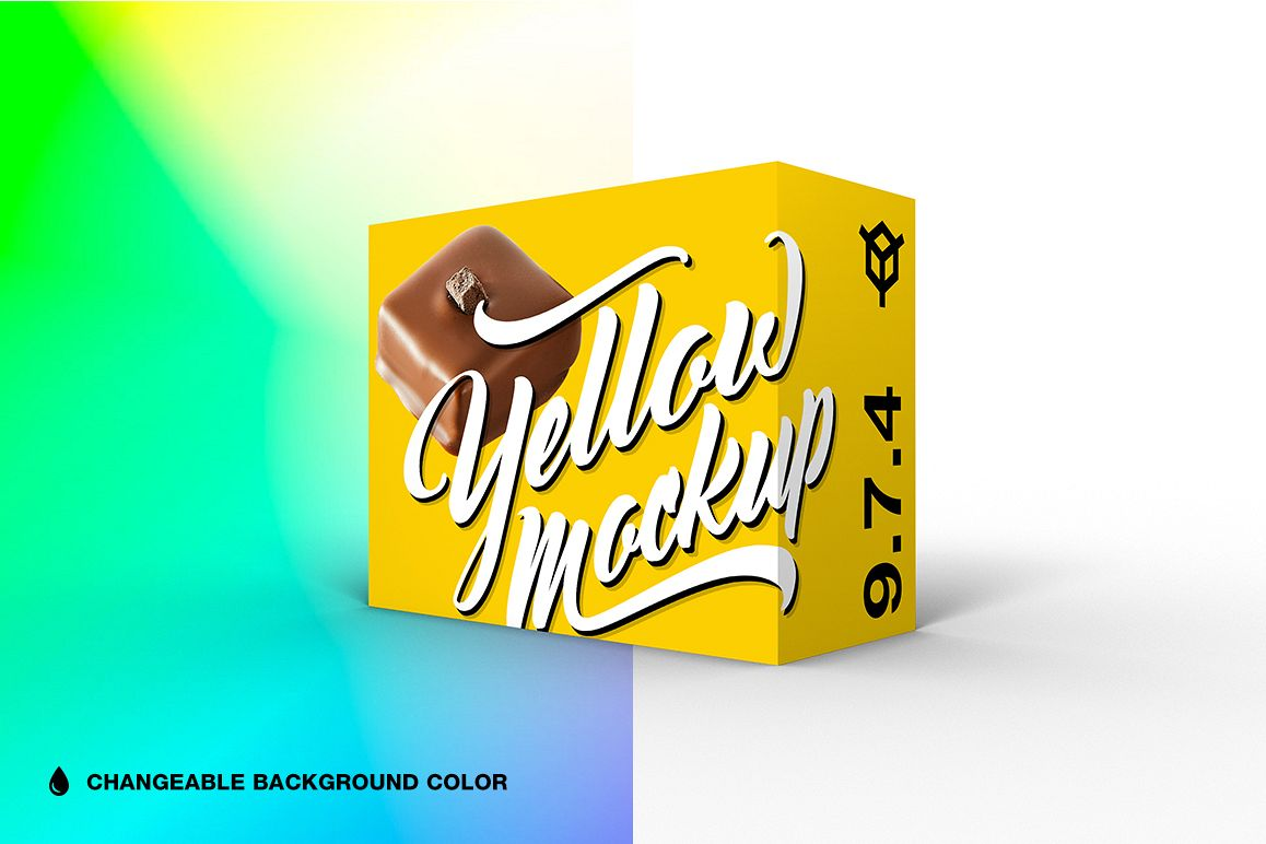 9.7.4 Simple 3D Box Mockup PSD example image 1