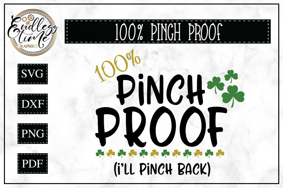 St Patrick's Day- Pinch Proof SVG Cut File example image 1