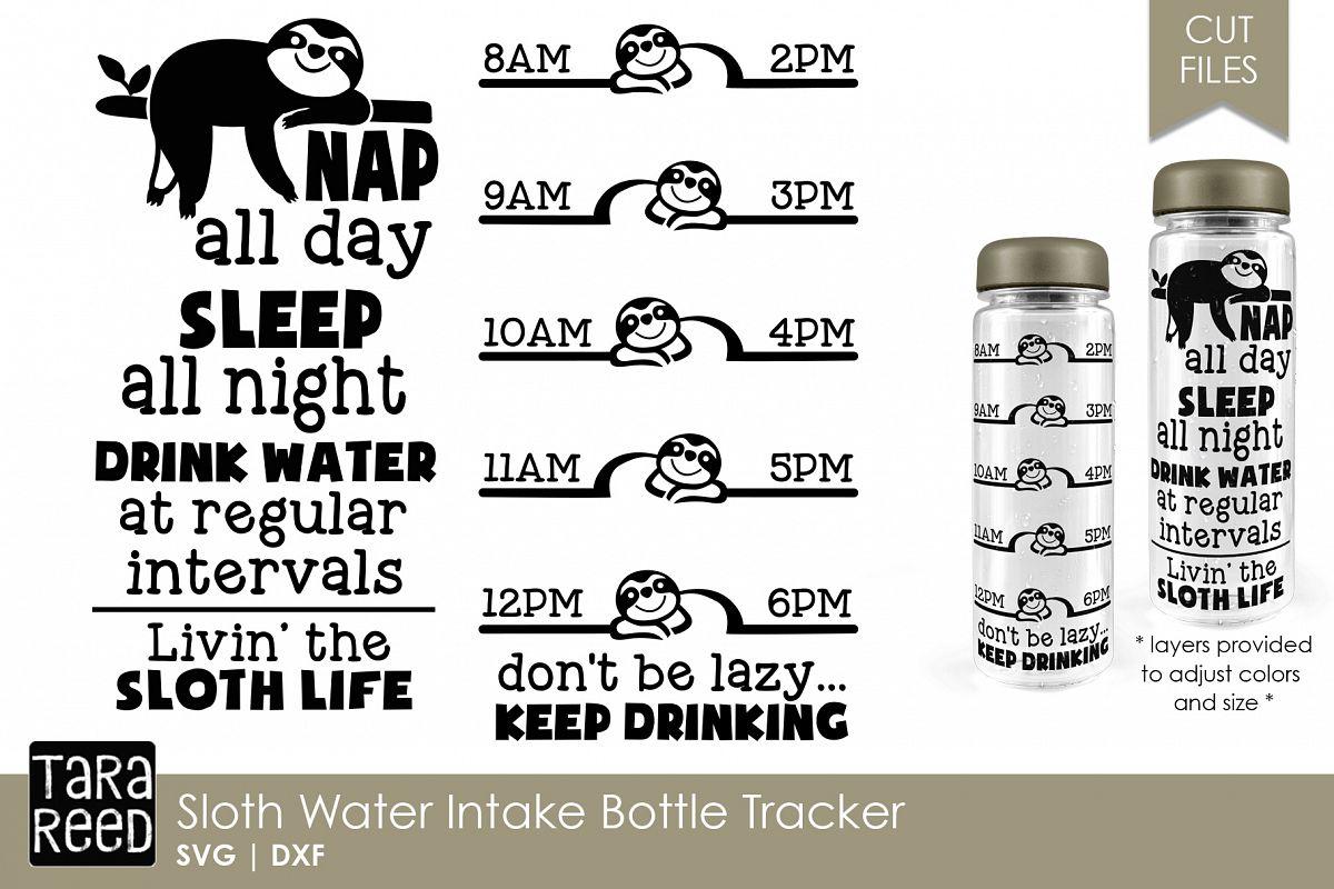Sloth Water Intake Bottle Tracker example image 1
