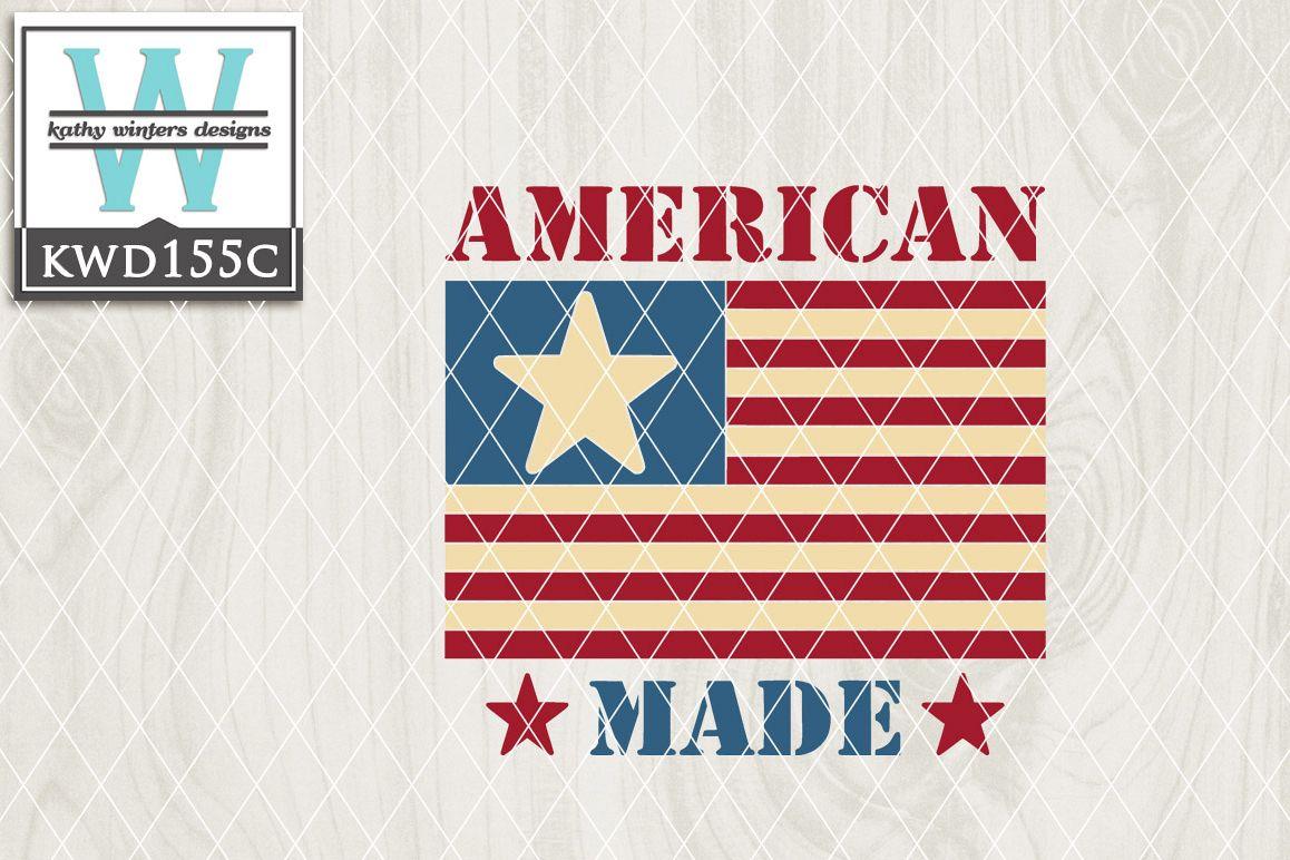 Patriotic Cutting File KWD155C example image 1