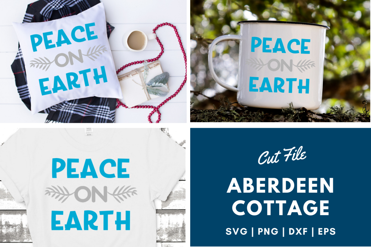 Peace On Earth 2 SVG | PNG | DXF | EPS example image 1