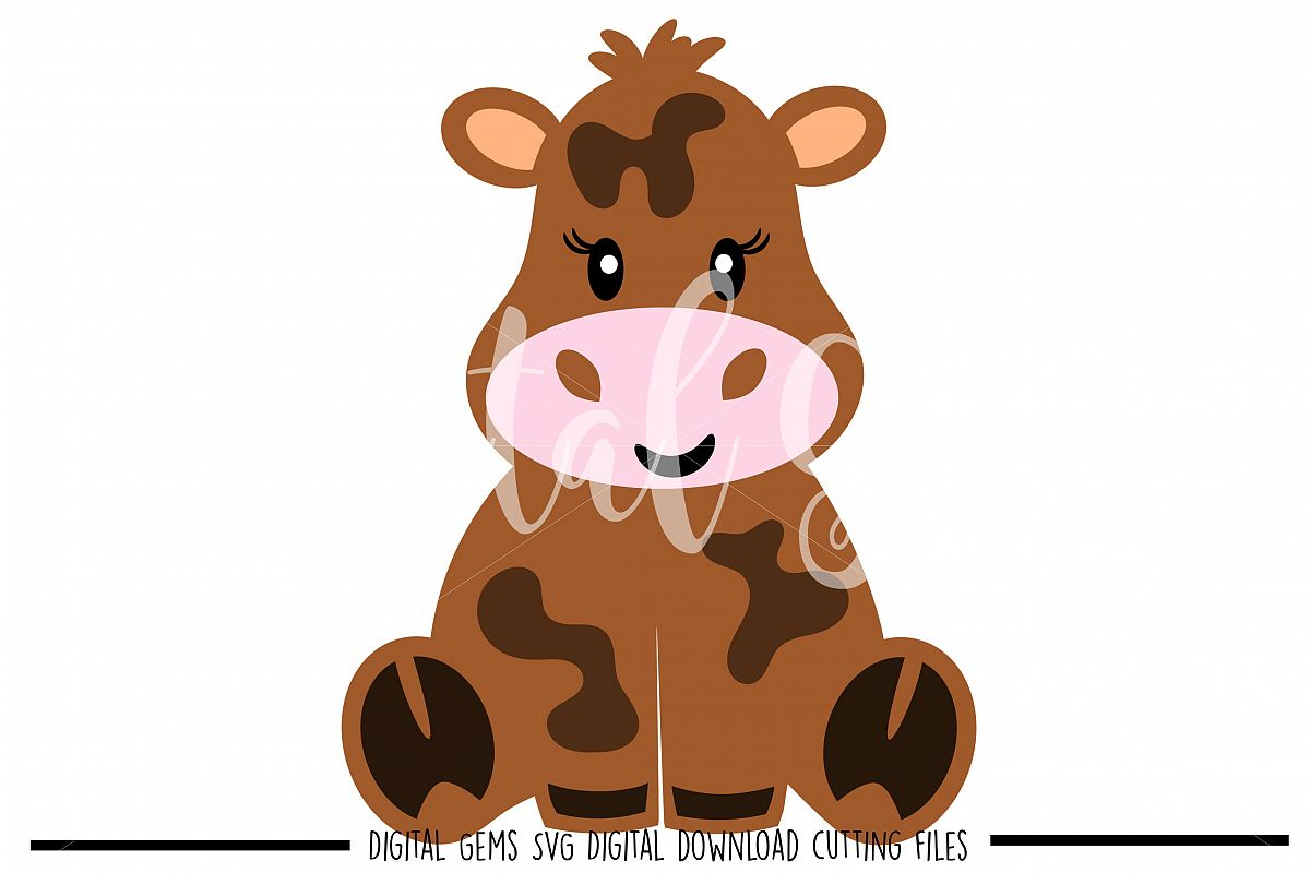 Cow SVG / DXF / EPS / PNG files example image 1
