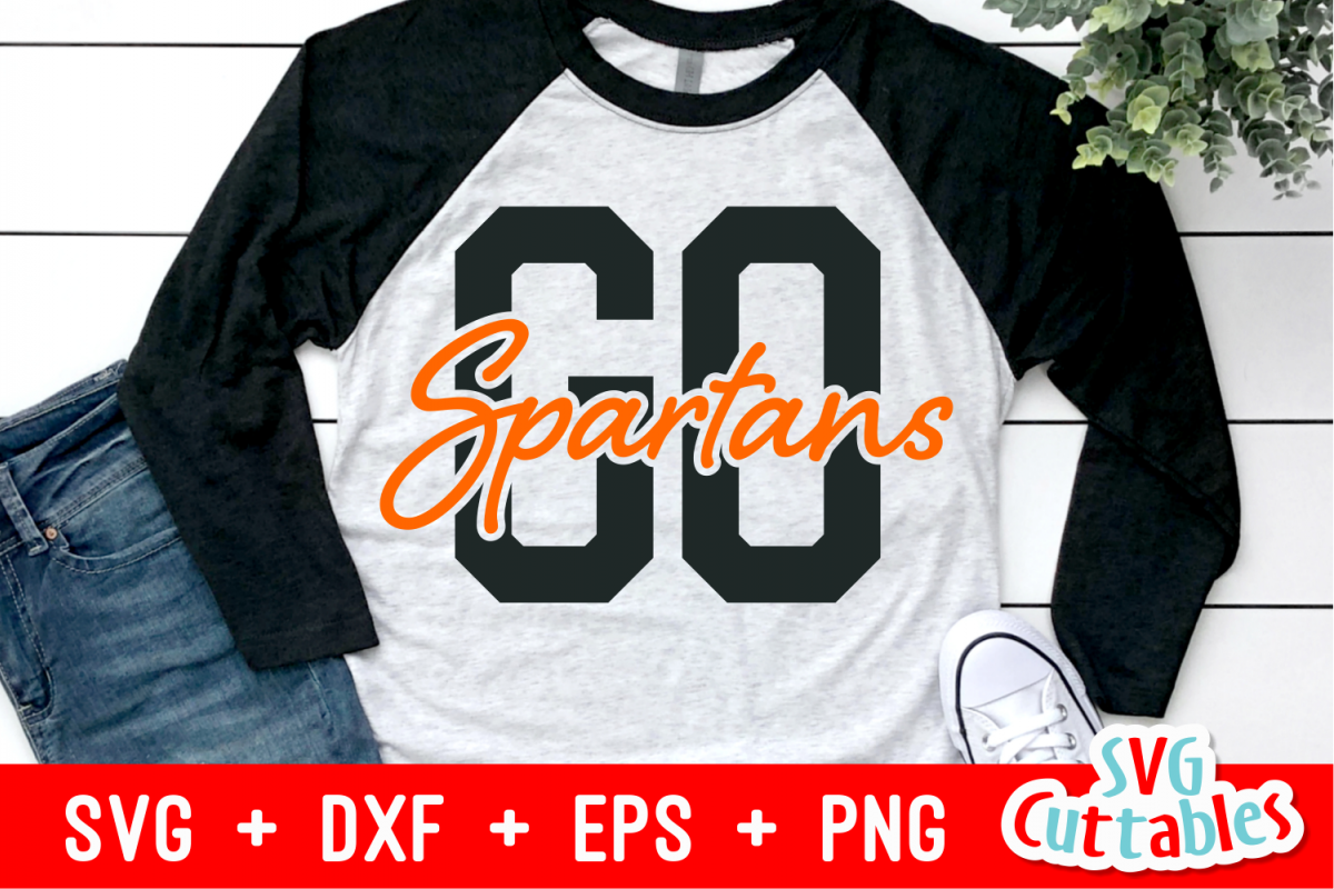 Go Spartans | Sports Mascot Design | SVG Cut File example image 1