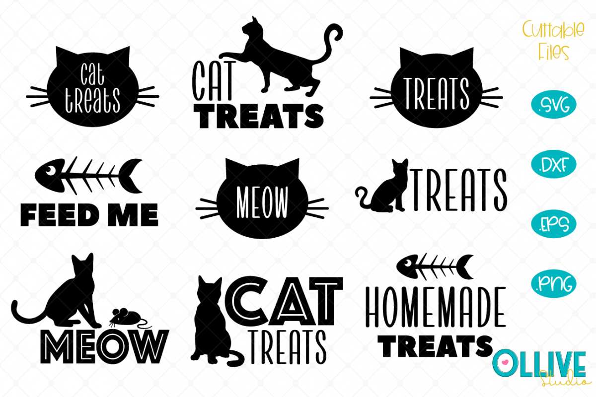 Cat Treat SVG Bundle example image 1
