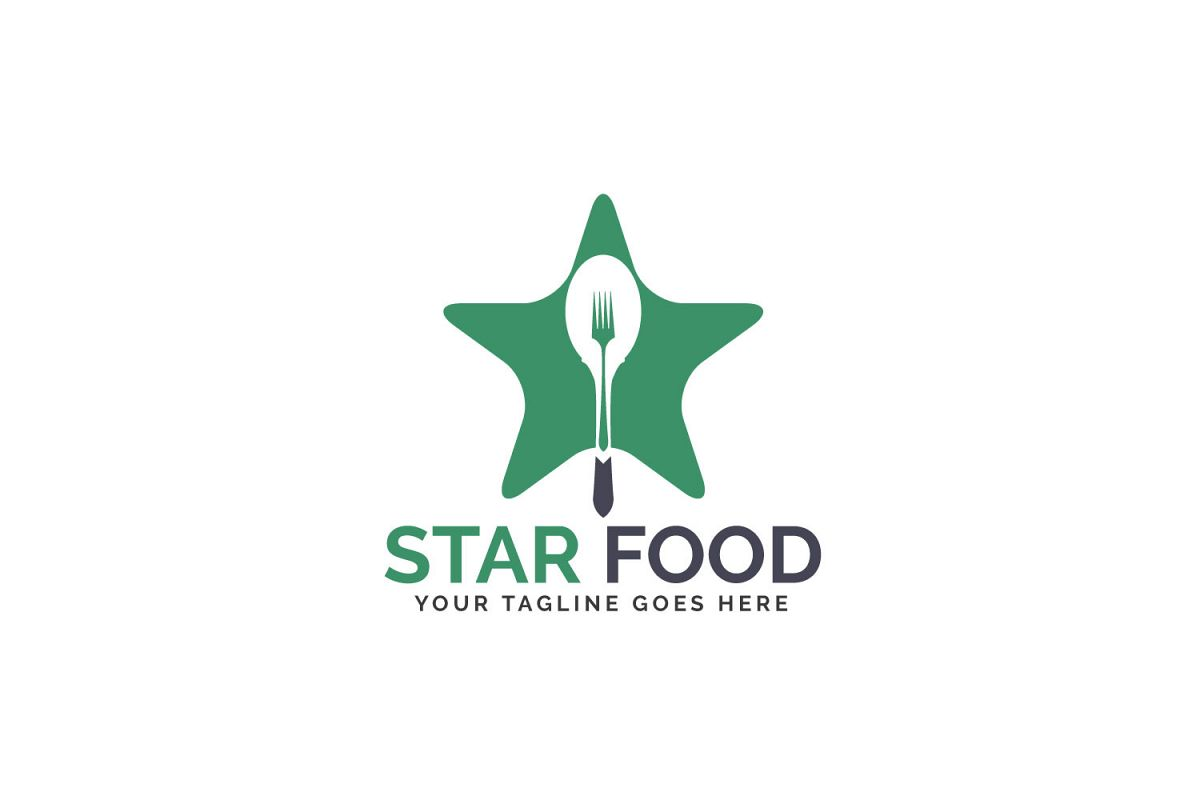 Star Food Logo Design. example image 1