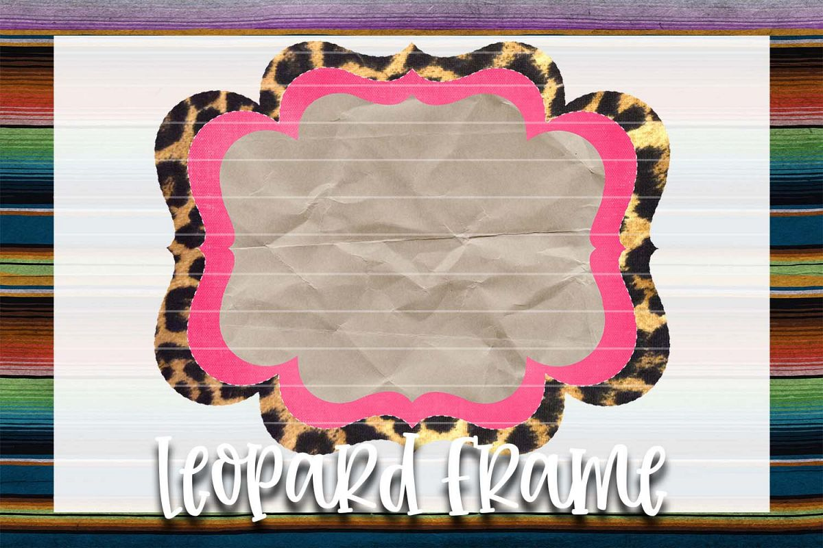 Hot Pink & Leopard Frame Background Element example image 1