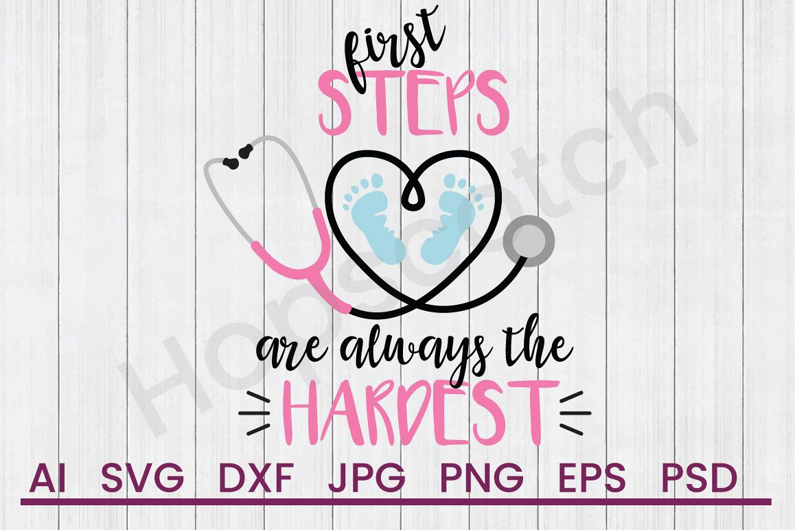 Stethoscope SVG, First Steps SVG, DXF File, Cuttatable File example image 1