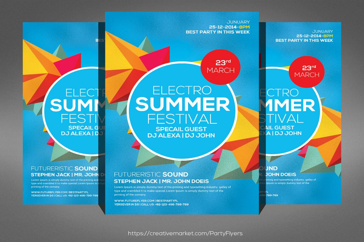 The Summer Festival Flyer example image 1