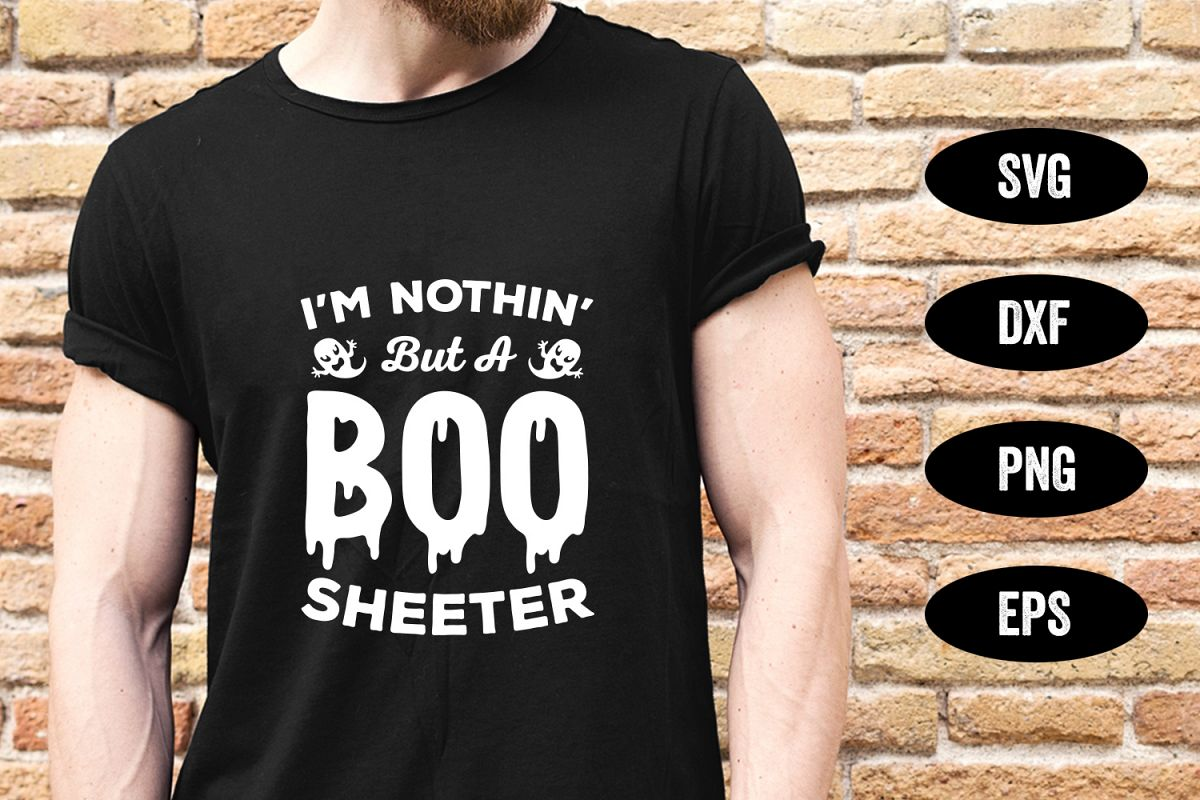 Halloween SVG, Boo Sheeter, SVG Cut file example image 1