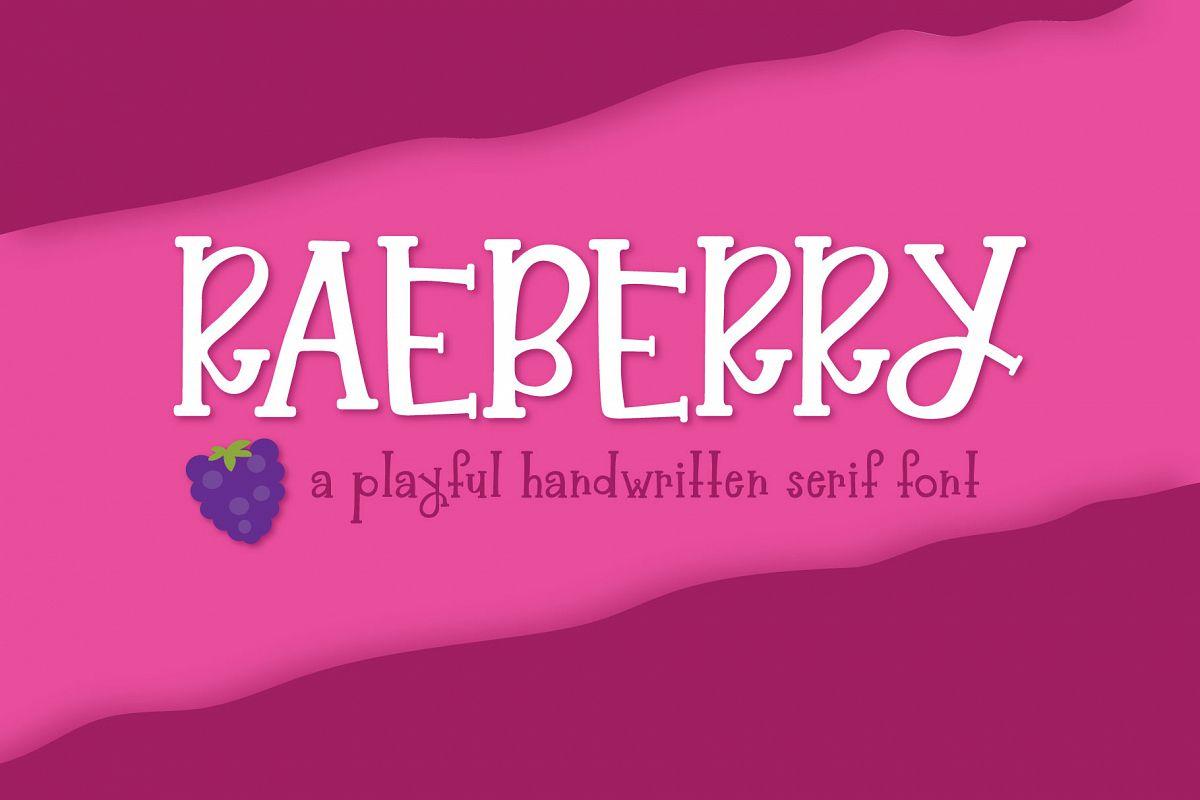 Raeberry Serif example image 1