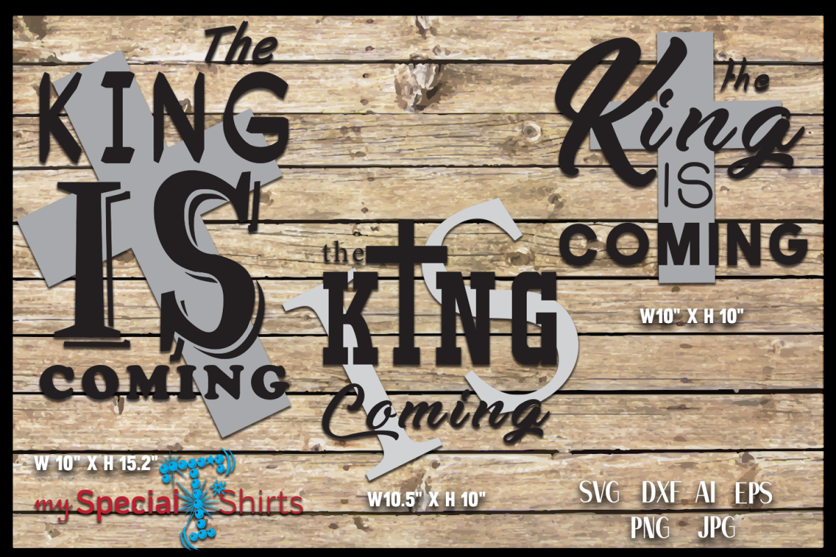 The King is Coming, Easter, Cross SVG, DFX, EPS example image 1