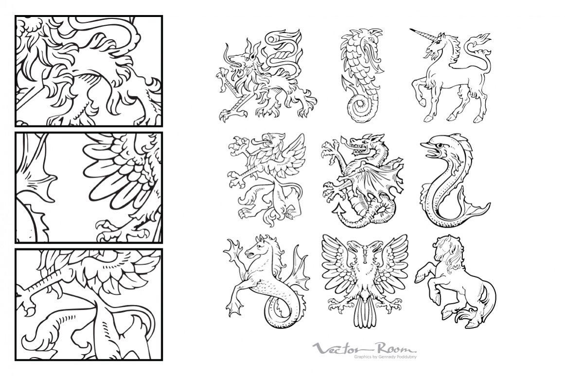 Heraldic Monsters Vol. I example image 1