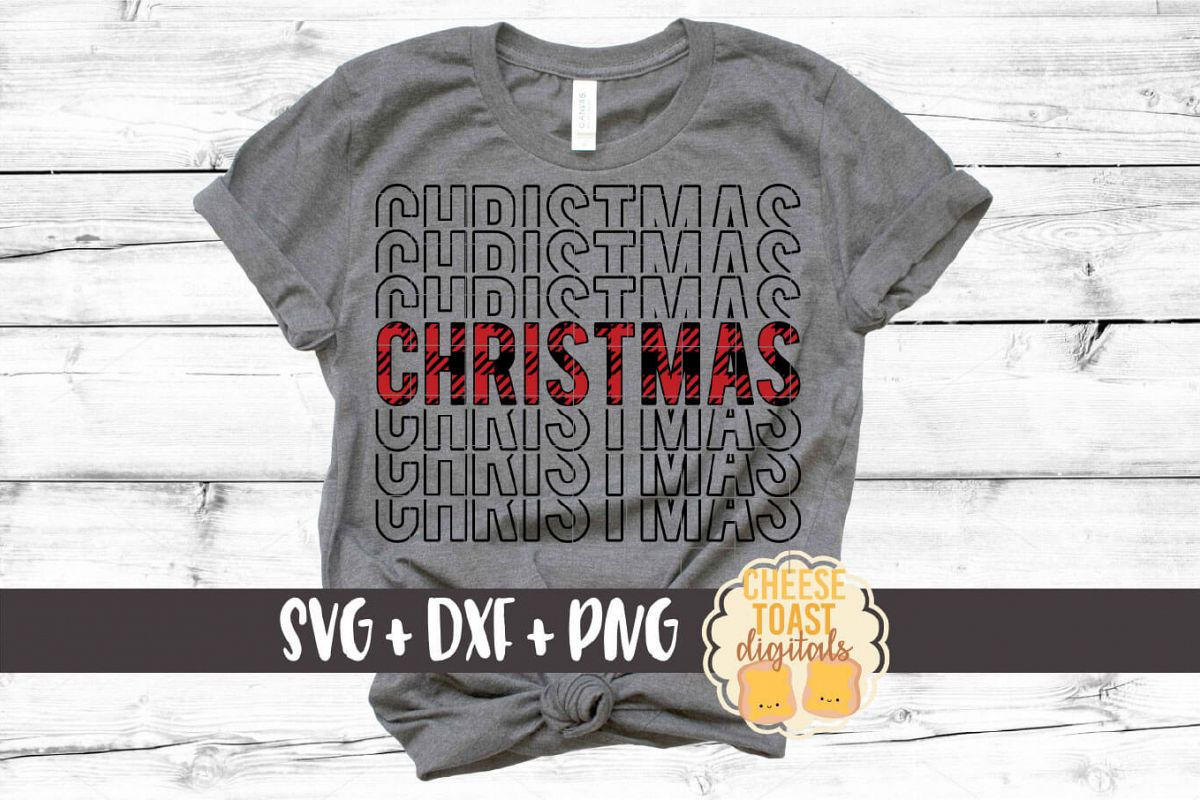 Christmas - Buffalo Plaid Christmas Mirror Word SVG PNG DXF example image 1