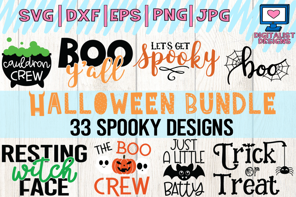 Halloween bundle svg, fall, october, witch, png, dxf example image 1
