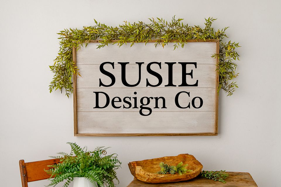 Fern & Greenery Farmhouse Large Wall Sign Mock Up example image 1