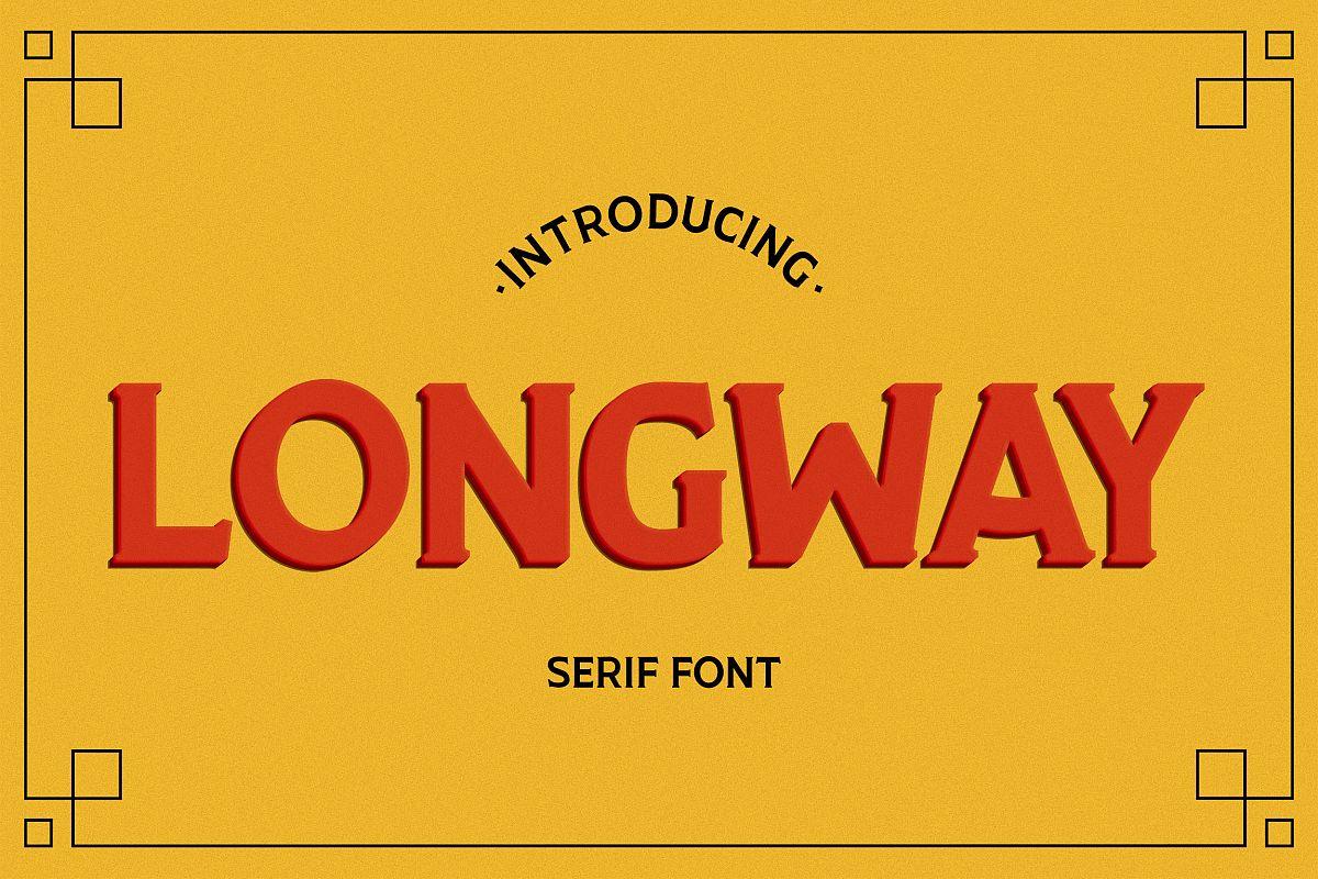 Longway - Serif Font example image 1