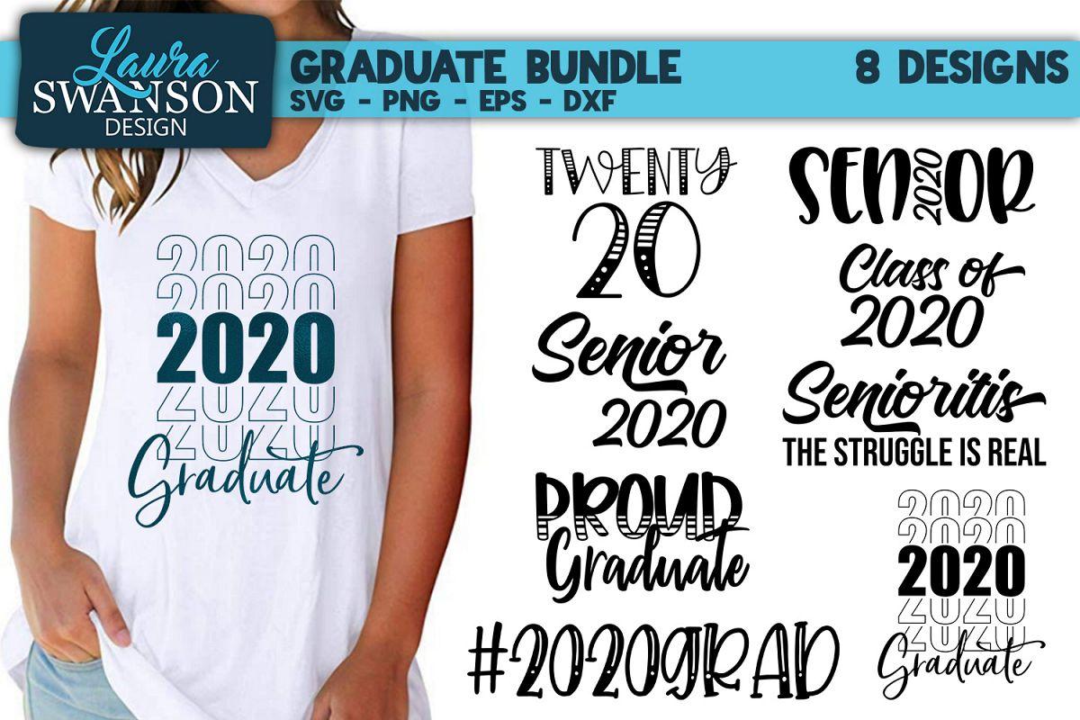 Graduate Bundle - 2020 - SVG, PNG, EPS, DXF example image 1