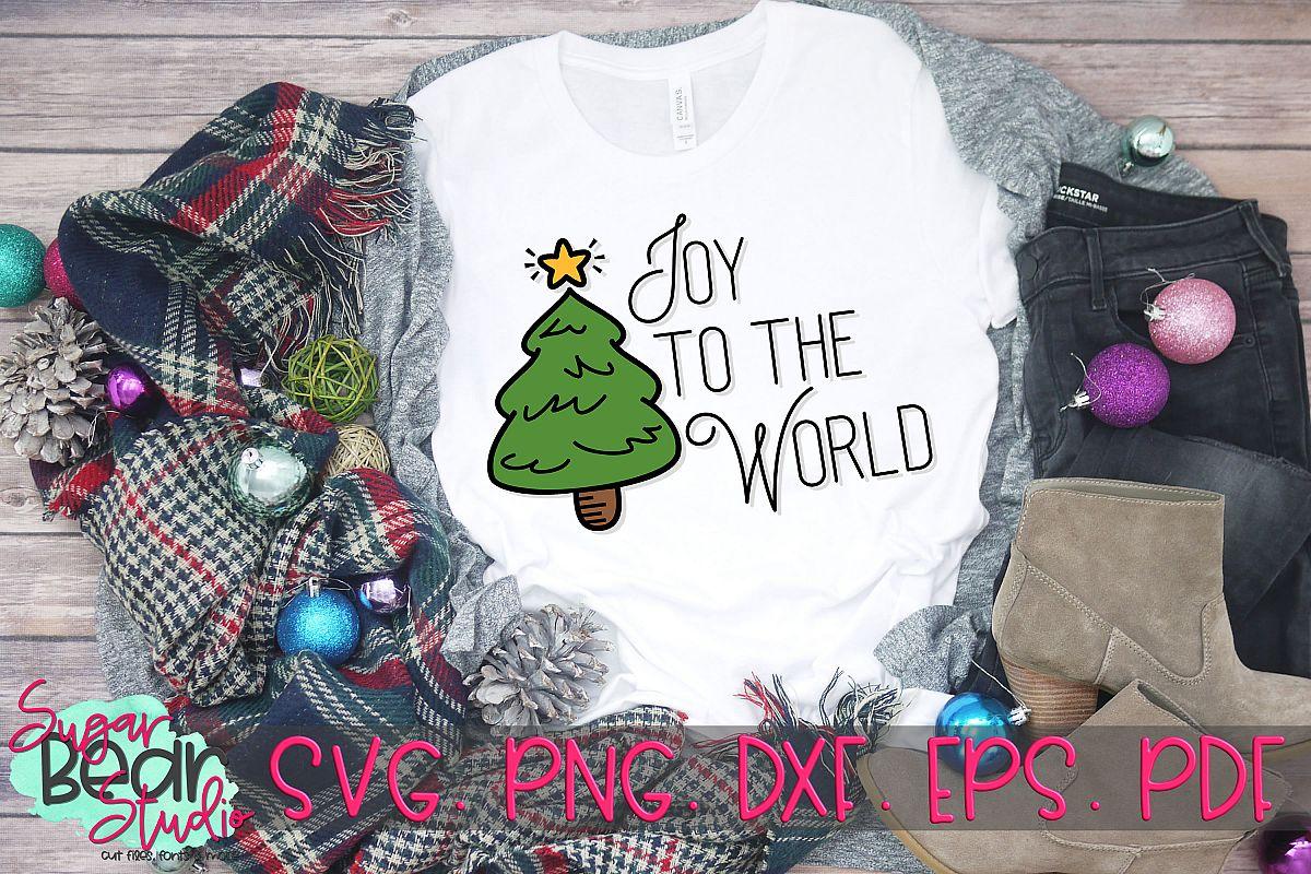 Joy To the World Christmas Tree - A Christmas SVG example image 1