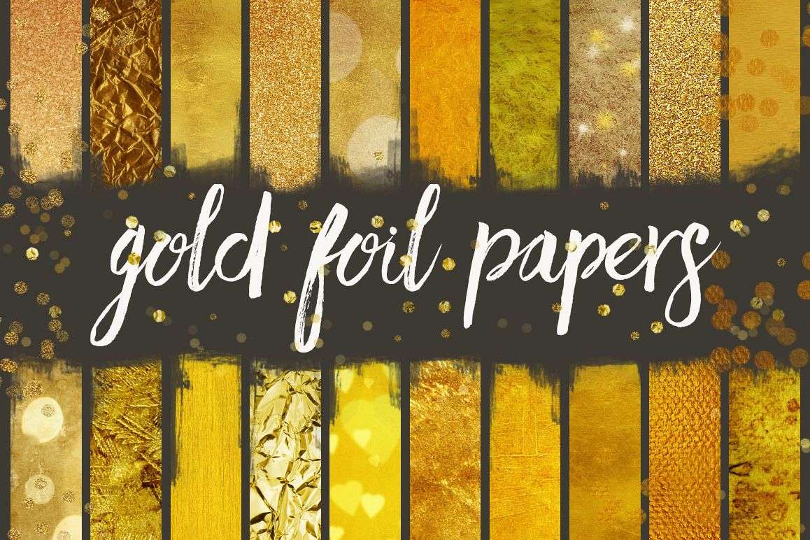 Gold Foil Seamless Patterns example image