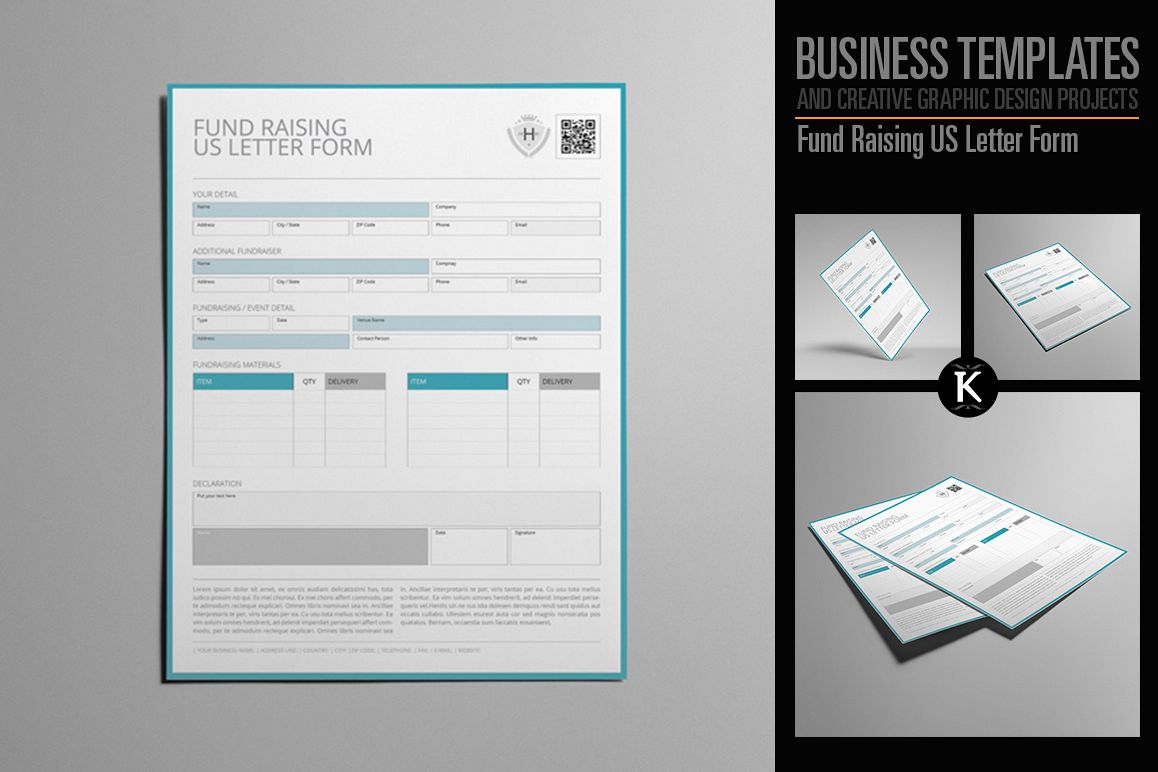 Fund Raising US Letter Form example image 1