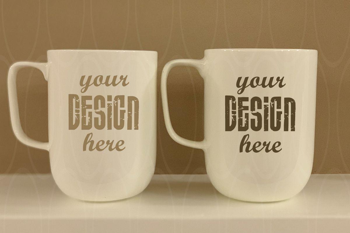 White Mugs mock up Styled Stock Photo Blank White example image 1
